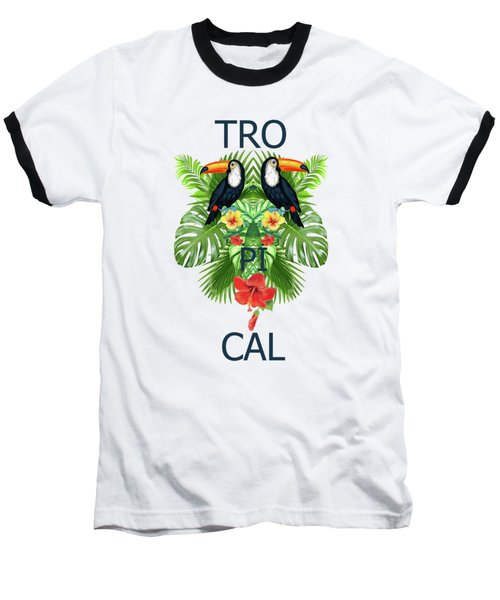 Tropical Summer  Baseball T-Shirt