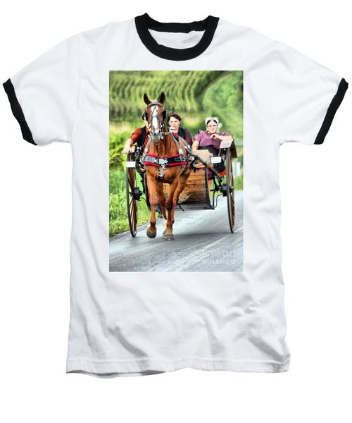 Baseball T-Shirt featuring the photograph Trotting Along by Polly Peacock