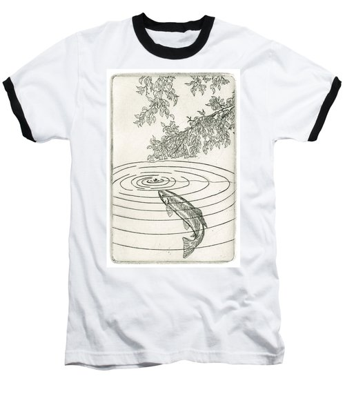 Trout Rising To Dry Fly Baseball T-Shirt