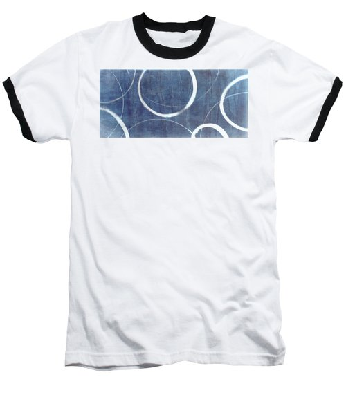 Baseball T-Shirt featuring the painting True Blue Ensos by Julie Niemela