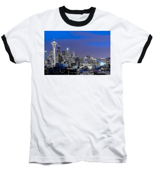 True To The Blue In Seattle Baseball T-Shirt by Ken Stanback