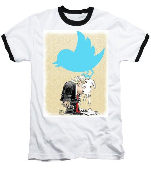 Trump Twitter Poop Baseball T-Shirt