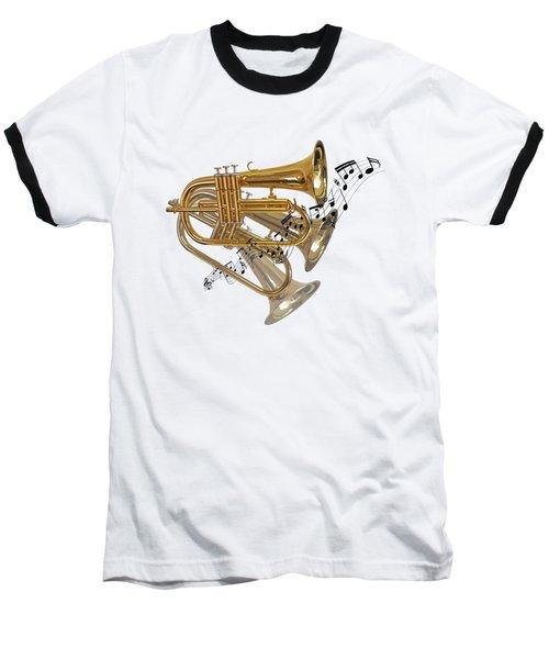 Trumpet Fanfare Baseball T-Shirt