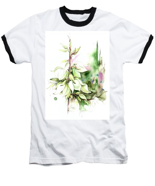 Baseball T-Shirt featuring the painting Trying On Wedding Dress by Anna Ewa Miarczynska