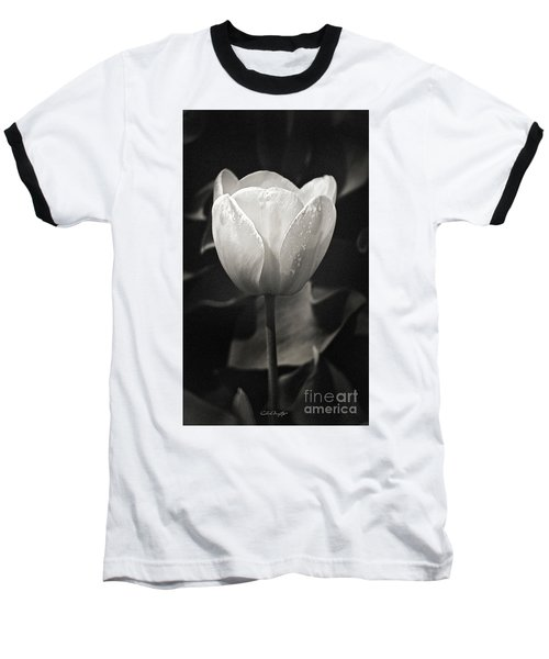 Tulip In Black And White Baseball T-Shirt