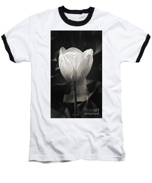 Tulip In Black And White Baseball T-Shirt