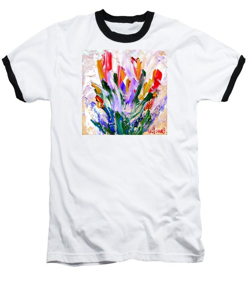 Tulips Baseball T-Shirt by Fred Wilson