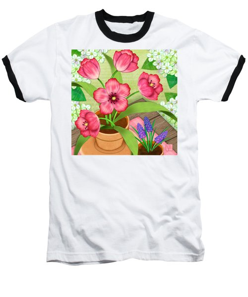 Tulips On A Spring Day Baseball T-Shirt