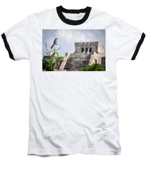 Tulum Mayan Ruins Baseball T-Shirt