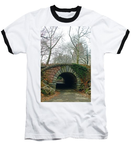 Baseball T-Shirt featuring the photograph Tunnel On Pathway by Sandy Moulder