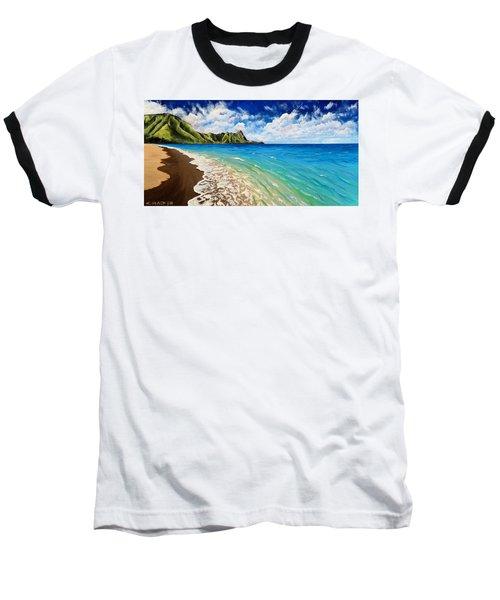 Tunnels Beach Baseball T-Shirt