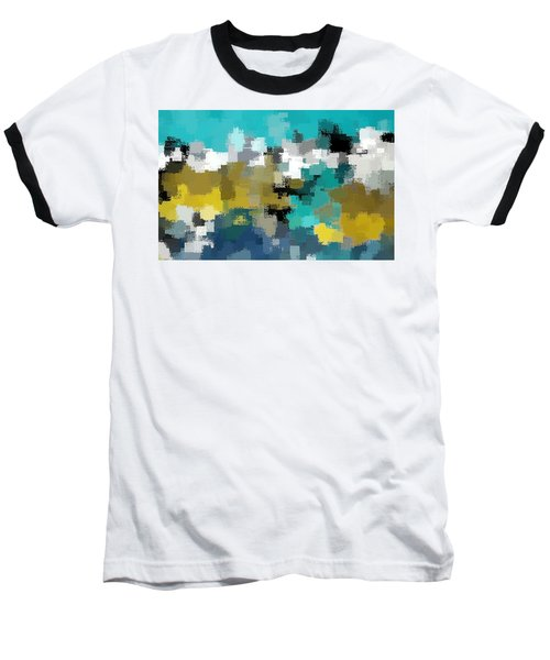 Turquoise And Gold Baseball T-Shirt