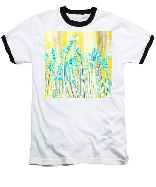 Turquoise And Yellow Baseball T-Shirt