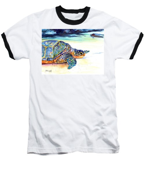 Turtle At Poipu Beach 2 Baseball T-Shirt