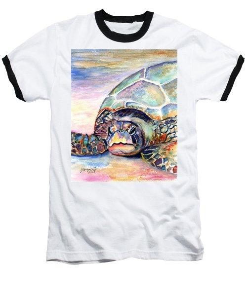 Turtle At Poipu Beach Baseball T-Shirt