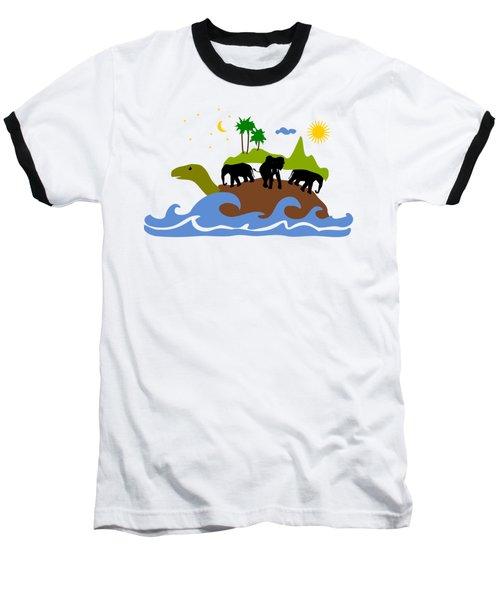 Turtles All The Way Down Baseball T-Shirt