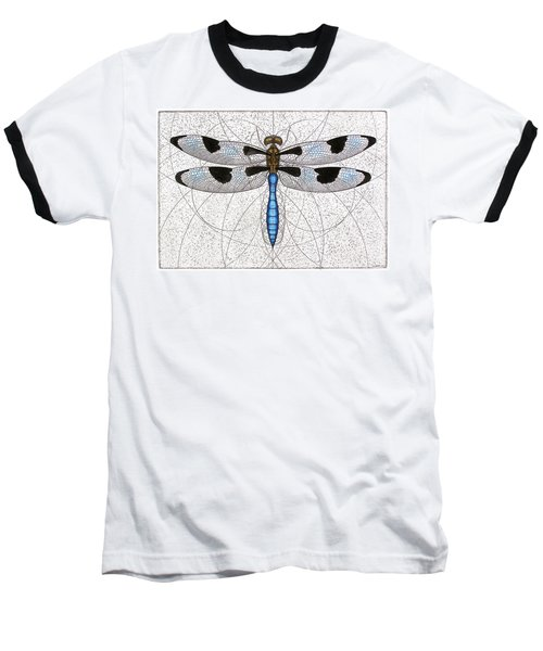 Twelve Spotted Skimmer Baseball T-Shirt by Charles Harden