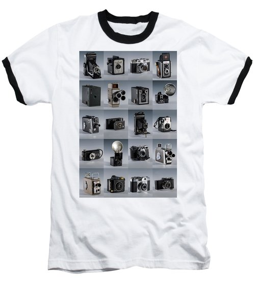 Twenty Old Cameras - Color Baseball T-Shirt