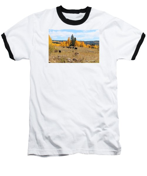Twilight Fall Mountain Range In Colorado Baseball T-Shirt