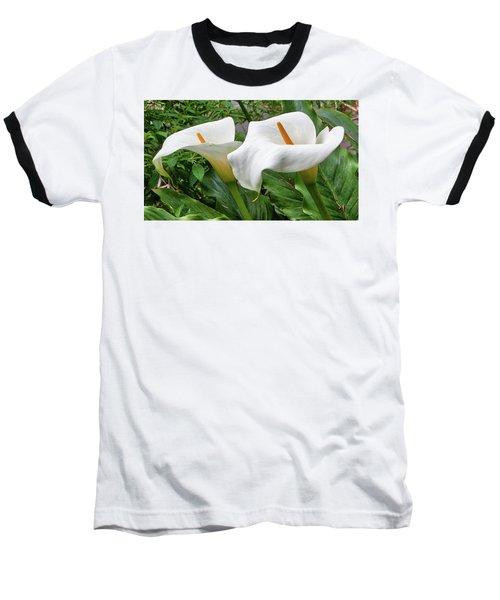 Twin Calla Lilies Baseball T-Shirt