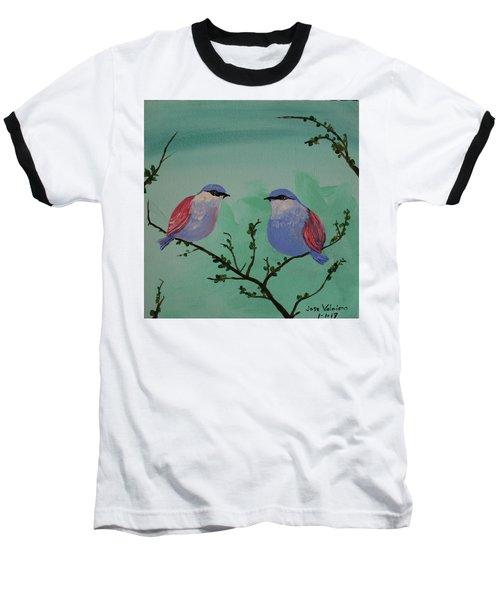 Two Chickadees Baseball T-Shirt