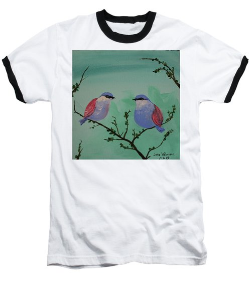 Two Chickadees Baseball T-Shirt