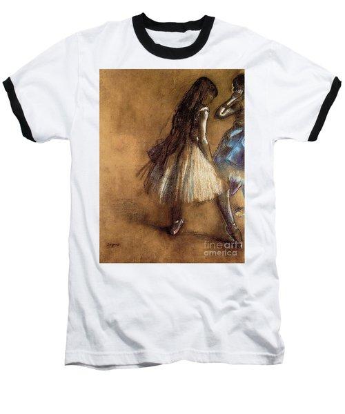Two Dancers Baseball T-Shirt by Degas