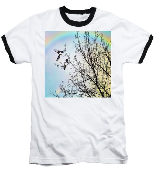 Two For Joy #nurseryrhyme Baseball T-Shirt by John Edwards