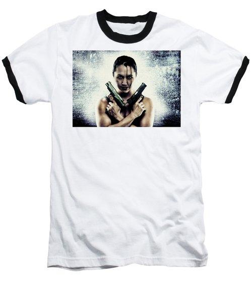 Lara Croft Baseball T-Shirt
