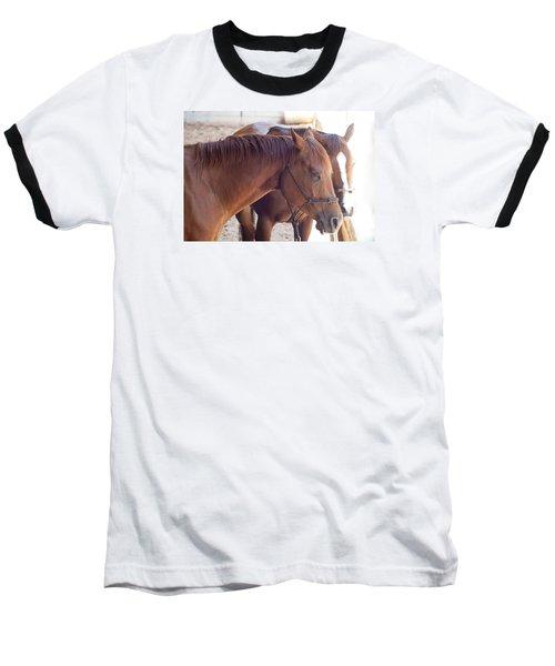 Two Horses Baseball T-Shirt