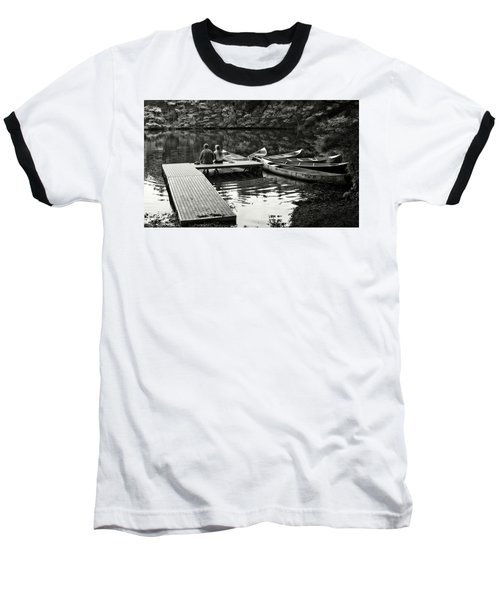 Two In A Boat Baseball T-Shirt by Alex Galkin