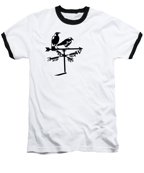 Two Magpies Baseball T-Shirt by India Rattray