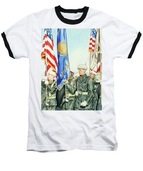Two Months After 9-11  Veteran's Day 2001 Baseball T-Shirt