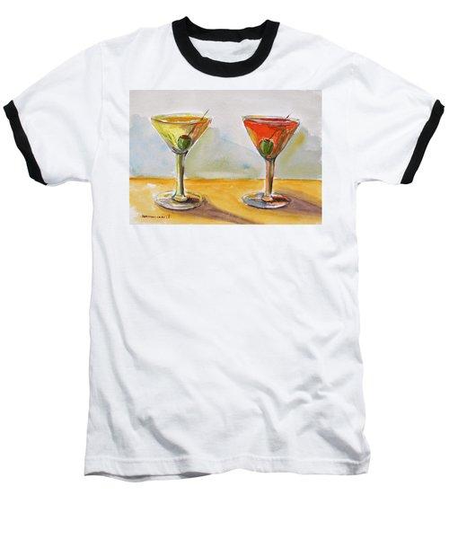 Two Perfect Martinis Baseball T-Shirt