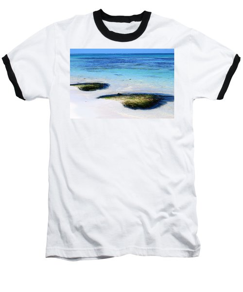Two Seaweed Mounds On Punta Cana Resort Beach Baseball T-Shirt