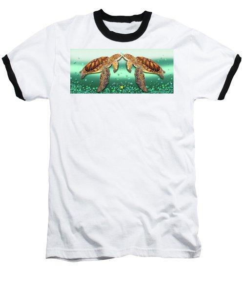 Two Turtles Baseball T-Shirt by Debbie Chamberlin