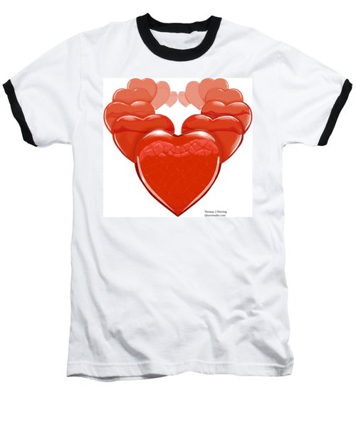Two Hearts Become One Baseball T-Shirt