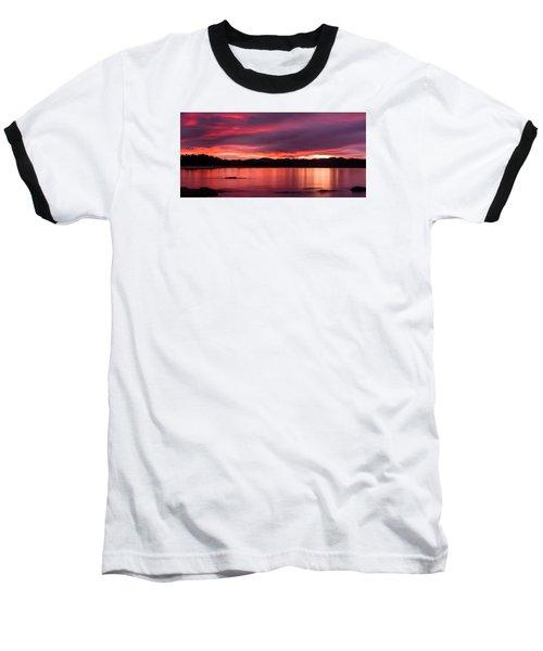 Twofold Bay Sunset Baseball T-Shirt