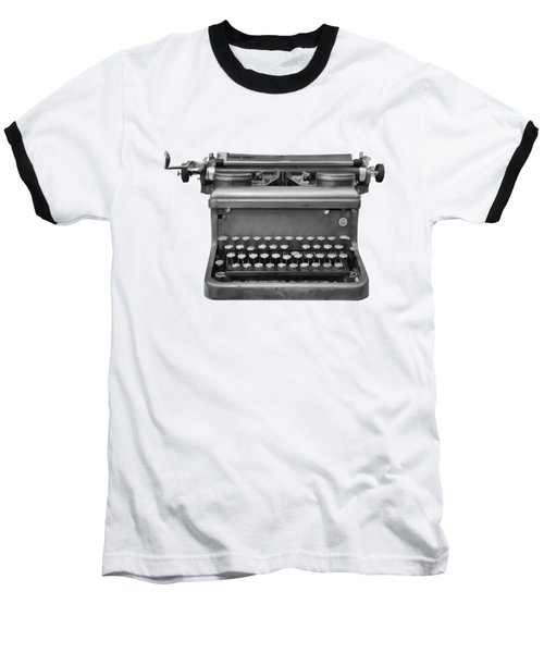 Typewriter Baseball T-Shirt by Roger Lighterness