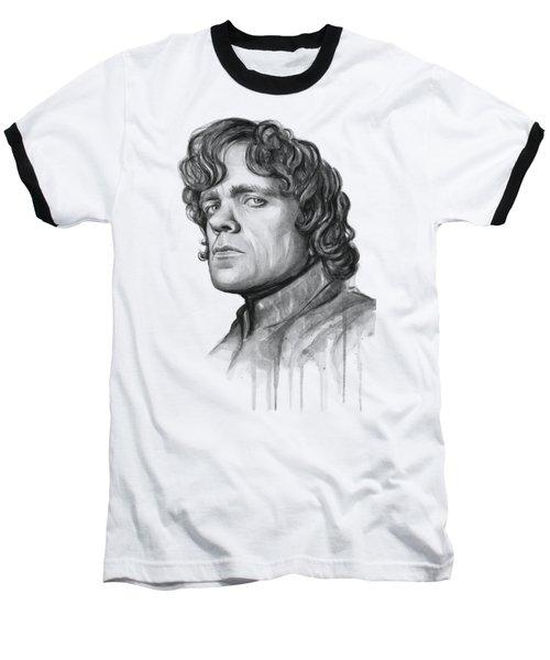 Tyrion Lannister Baseball T-Shirt by Olga Shvartsur