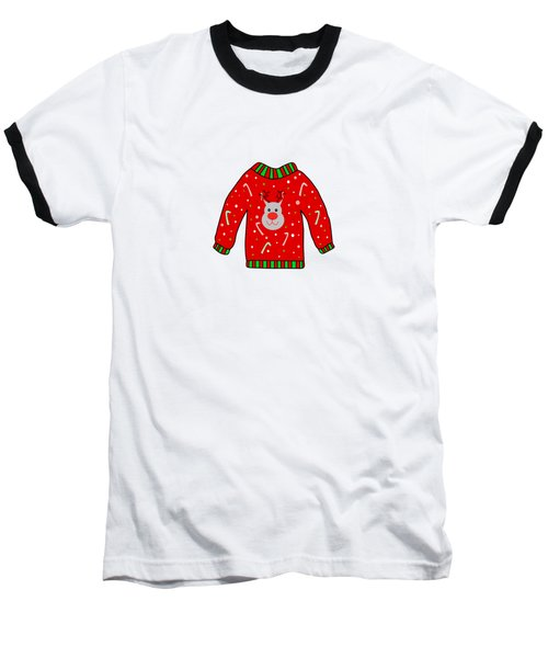 Ugly Christmas Sweater Baseball T-Shirt