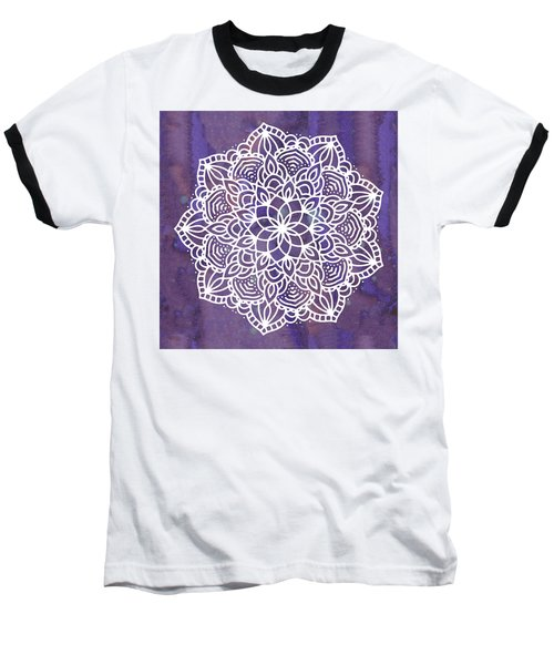 Ultraviolet Mandala Baseball T-Shirt