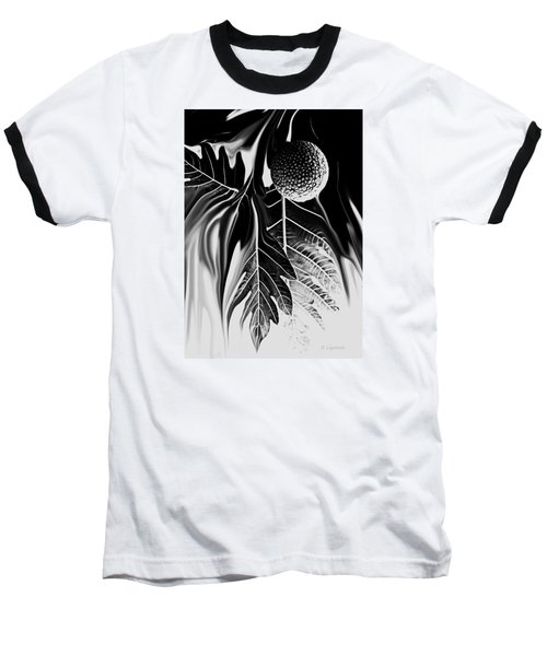 Ulu - Breadfruit Abstract Baseball T-Shirt by Kerri Ligatich