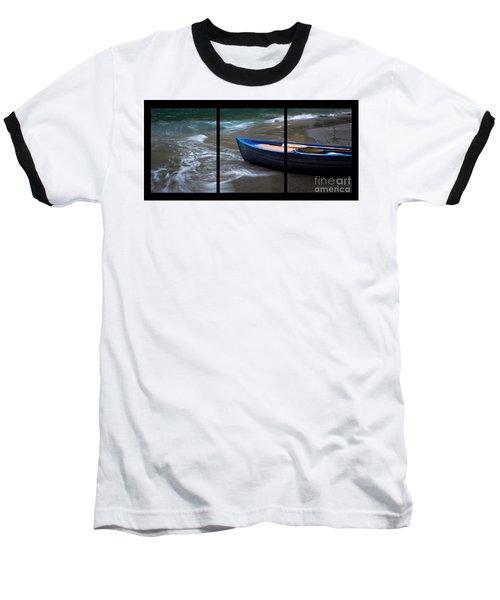 Uncertain Future Triptych Baseball T-Shirt