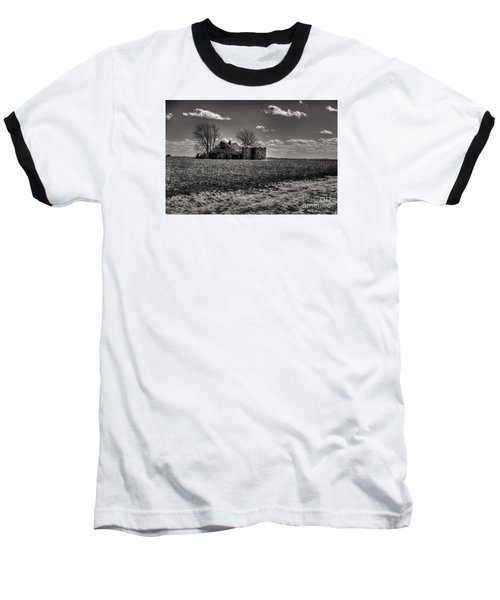 Baseball T-Shirt featuring the digital art Under The Crush Of The Lowering Sky by William Fields