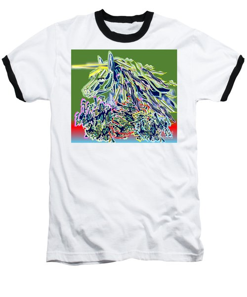 Unicorn Baseball T-Shirt by Belinda Threeths