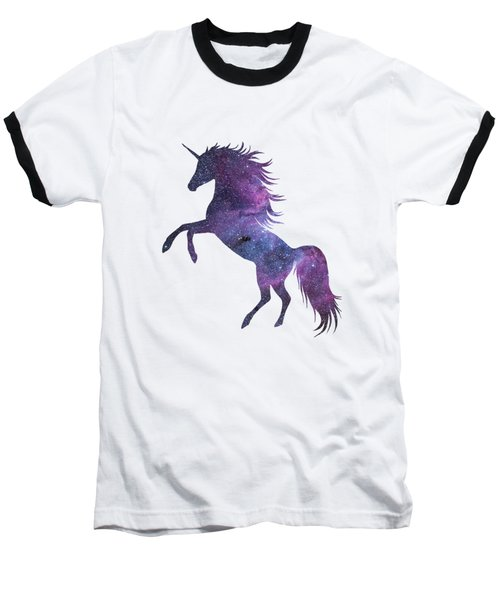 Unicorn In Space-transparent Background Baseball T-Shirt