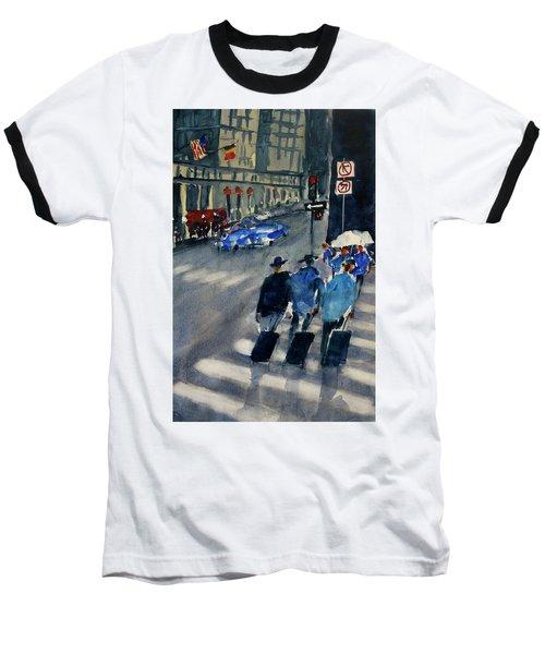 Union Square1 Baseball T-Shirt by Tom Simmons