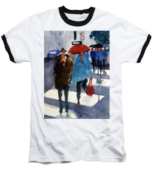 Union Square9 Baseball T-Shirt by Tom Simmons