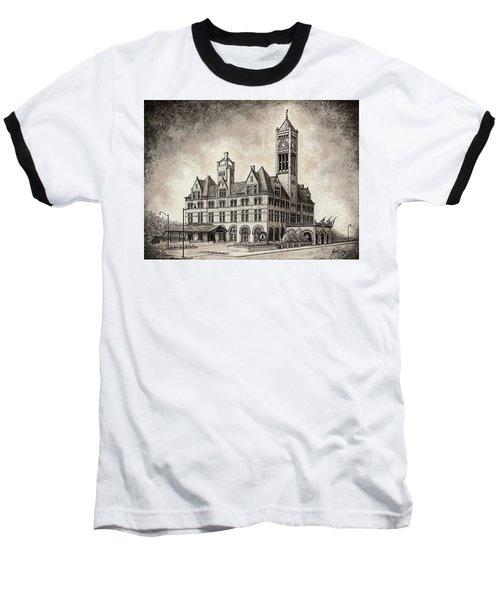 Union Station Mixed Media Baseball T-Shirt